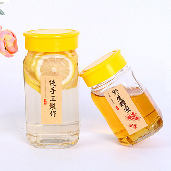 White Glass Material Airtight Octagonal Honey Bottle pictures & photos