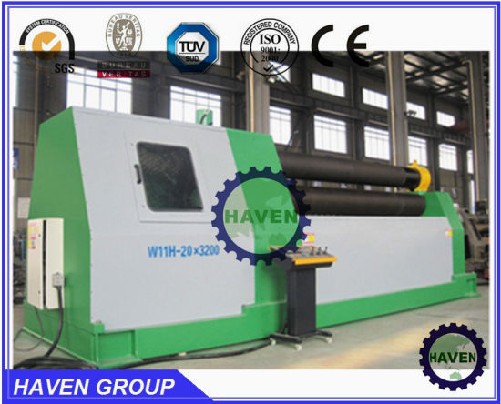 W11H-4X3000 high quanlity Bottom rollers Arc-Adjust plate bending rolling machine pictures & photos