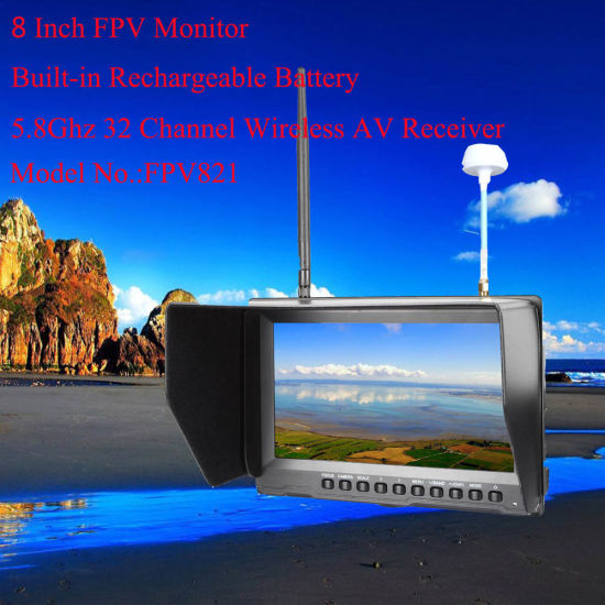 8 Inch Fpv Monitor with Battery and DVR