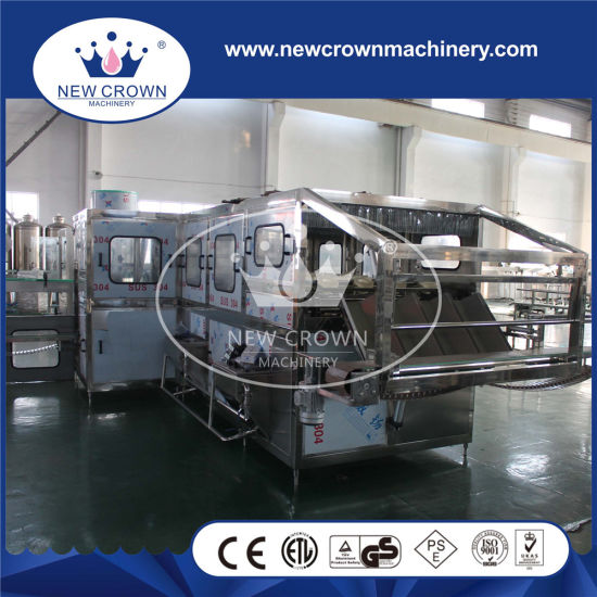 Level Filling Controlled Belt Capping Type 3 in 1 Gallon Bottling Machine with Cap Lifter pictures & photos