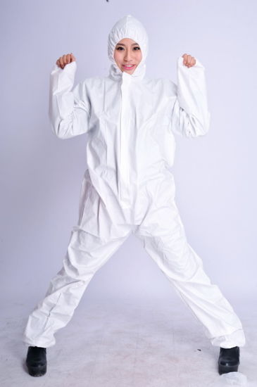 Wholesale Orange Sf Waterproof Microporous Coverall pictures & photos