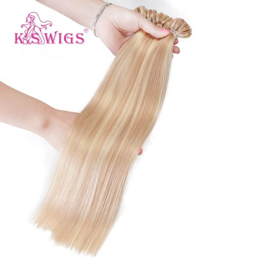 K. S Wigs Top Grade U Tip Nail Hair Keratin Hair Extension 100% Indian Human Hair pictures & photos