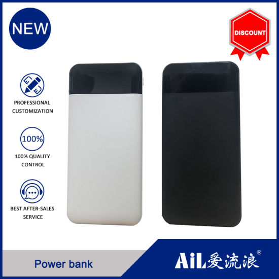 10000mAh Power Bank Bulit in Dual USB and LED Light Power Bank