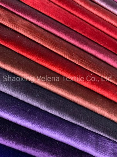 Velvet Fabrics for Sofa and Curtain pictures & photos