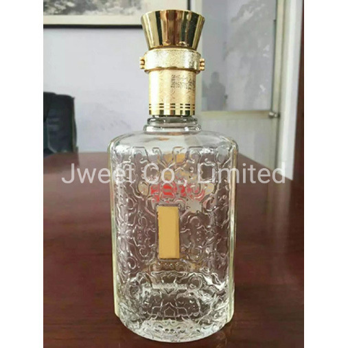 750ml Sake Alcoholic Clear Glass Wine Bottle with Screw Cap