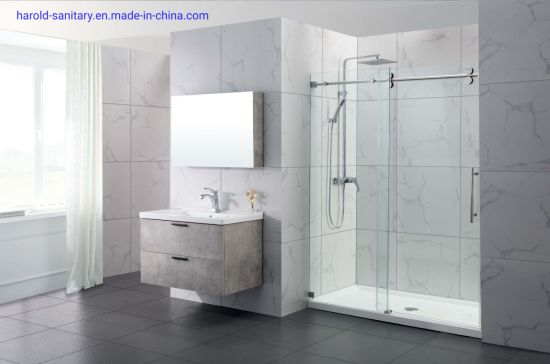 Inline Single Slider Shower Enclosure with Double Rollers