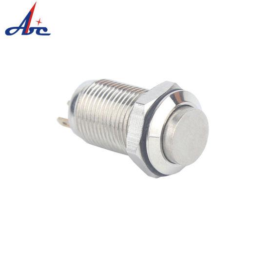 12mm Brass Metal 1no1nc Self Locking Push Button Switch