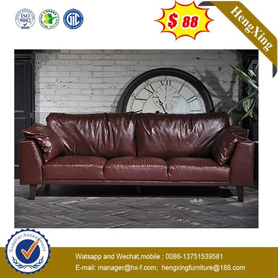 Hot Sale European Style Classic Leather Sofa with End Table (HX-9U241) pictures & photos