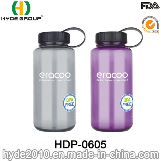 800ml/1000ml Tritan Wide Mouth BPA-Free Plastic Sports Water Bottle (HDP-0605) pictures & photos