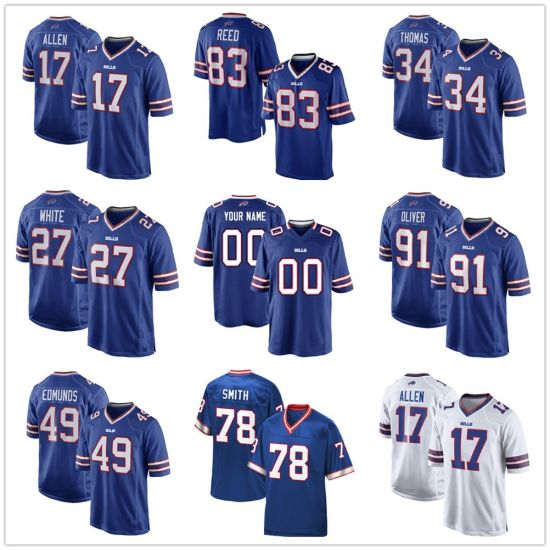 brand new a0827 f39c1 Wholesale Josh Allen ED Oliver Tremaine Edmunds Football Jerseys