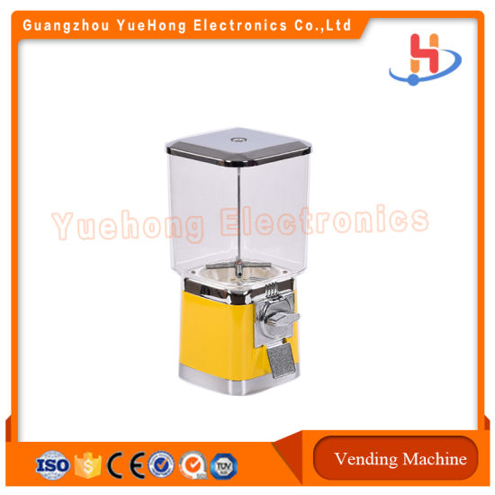 Hot Sale Factory Price Candy Dispenser Capsule Plastic Toy Gumball Vending Machine
