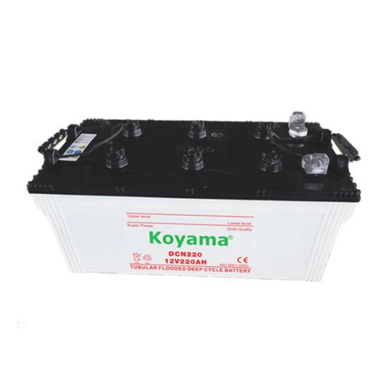 China Koyama Dcn220 12v 220ah Heavy Duty Charged Car Battery China
