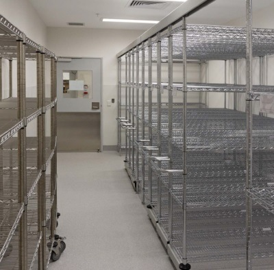 China High Density Epoxy Coated Steel Wire Shelving With