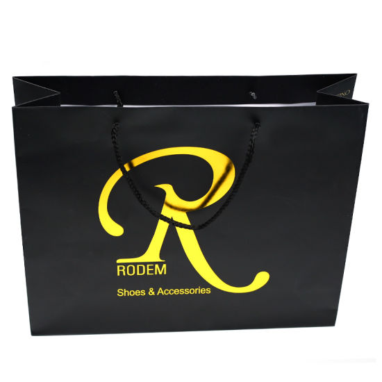 Custom Logo Gold Foil Hot-Stamping Paper Bag