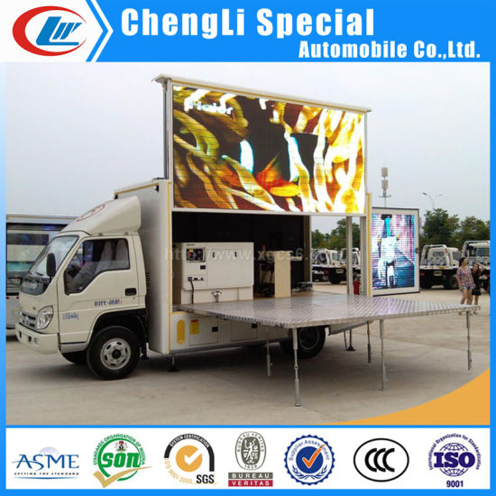 Mobile Full Color LED Stage Truck with Hydraulic Control System pictures & photos