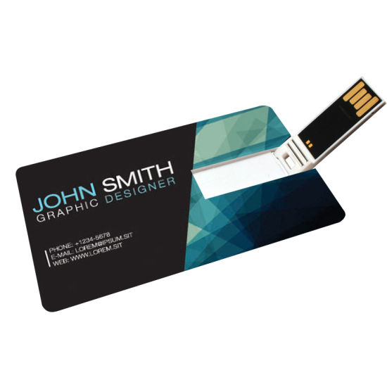Customized Gift Credit Card Shape USB Flash Stick USB Flash Drivers Memory Stick with Custom Logo