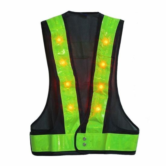 Hi-Visibility Polyester Work Place LED Light Safety Vest for Man Women