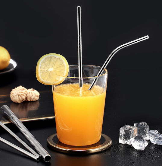 Colorful Straight Bent Metal Straw for Party