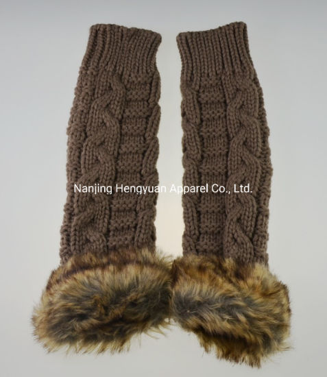 New Design Comfortable Plain Women Arm Knitted Warmer pictures & photos