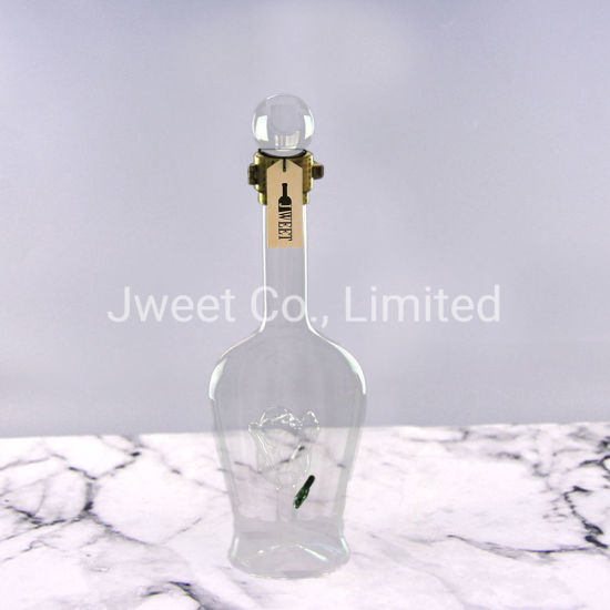 Borosilicate Glass Alcohol Bottle Vodka Bottle with Cork Top Lid
