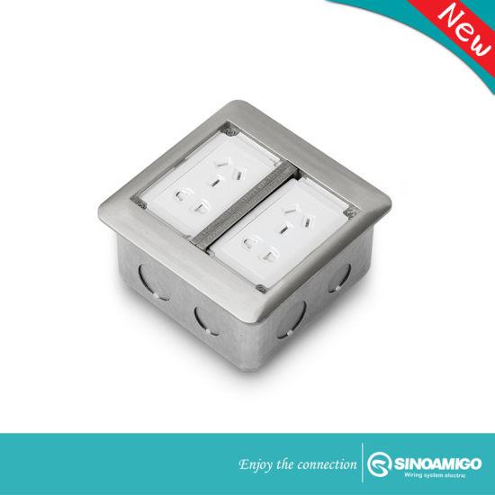 Aluminum Double Flip up Floor Box