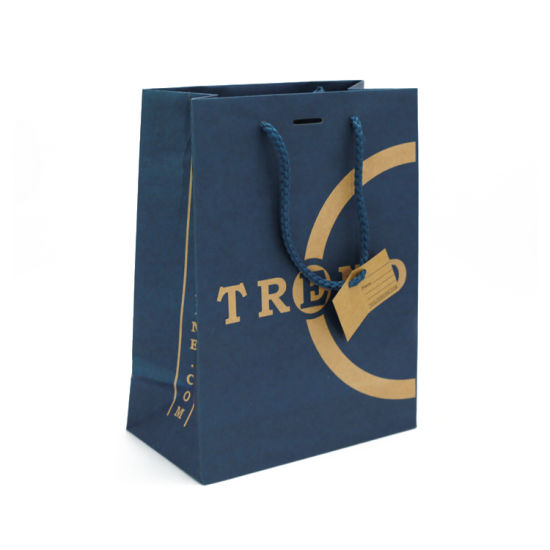Cheap Custom Small Retail Cosmetic Packaging Promotion Gift Shopping Paper Bag with Rope Handles pictures & photos
