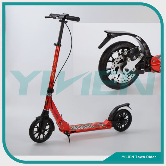 Double Suspension Folding Adult Kick Scooter with Disc Brake