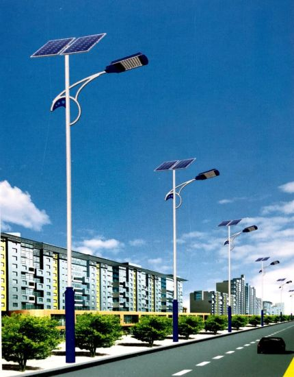 Customized Wind & Solar Hybrid Street Light Steel Pole / Mast / Post (4-15m) pictures & photos