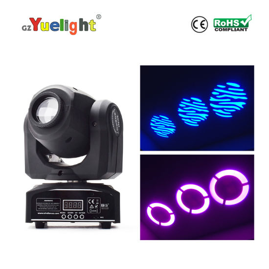 2019 Factory Hotsale LED Spot 30W 7gobos DJ Disco Mini Moving Head Stage Light Manual Ce RoHS