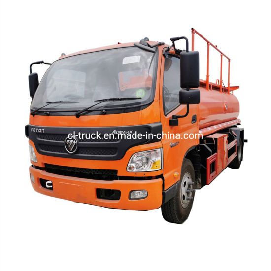 Foton Aumark Fuel Tanker Truck High Quality 4X2 2000gallon 8m3 7m3 6m3 Diesel Oil Transporter Capacity Fuel Tank Tanker Truck for Sale