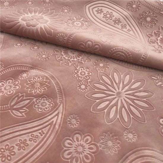 Customized Colors 100% Polyester 3D Embossed Holland Fabric