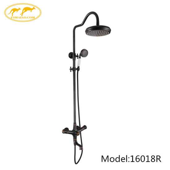 China Sanitary Ware Orb Three Functions Classical Brass Shower Set (16018R)