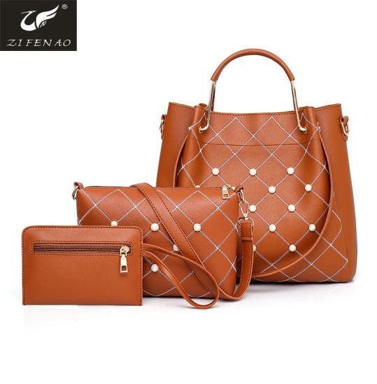 e4d5e5bf528d China Cheap Wholesale 3 in 1 Handbag PU Leather Women Bag Set ...