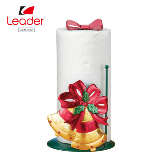 Christmas Bells Metal Paper Towel Holder Free Standing Table Tissue Paper Holder pictures & photos