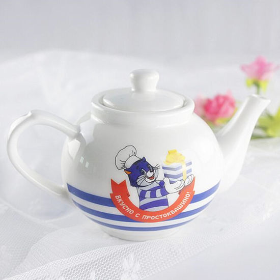 Plain White Ceramic Tea Pot Personalized Coffee Pot Porcelain Enamal Coffee Tea Pot pictures & photos