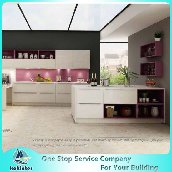 MDF/MFC/Plywood Particle Board Modern Kitchen Cabinets Of Kok012