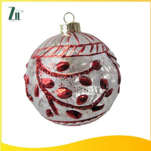 Hand Made Glass Craft for Christmas Decoration