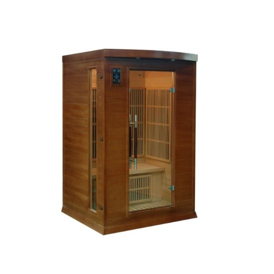 Small Infrared Hemlock Wood Sauna Room Function Dry Room for 1 People Using