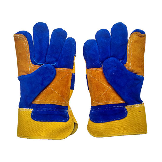 Reinforcement Palm Cut Resistant Protective Riggers Work Gloves for Working pictures & photos