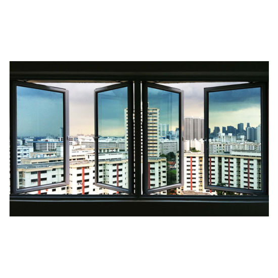 High Quality Anti Theft Double Glazed Mosquito Net Casement Window