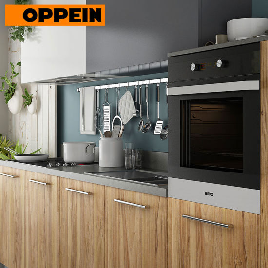 Oppein 360cm Wood Grain Pre-Assembled Kitchen Cabinet (OP17-M01)