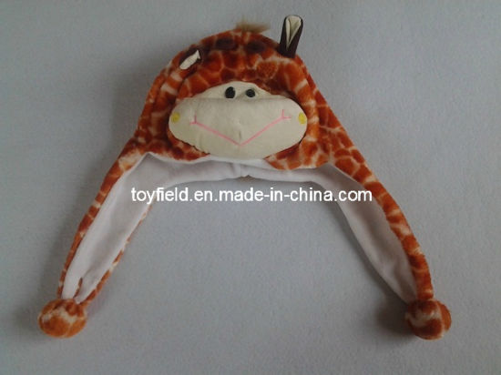 Cap Hat Plush Giraffe Animals Cartoon Winter Hat Cap