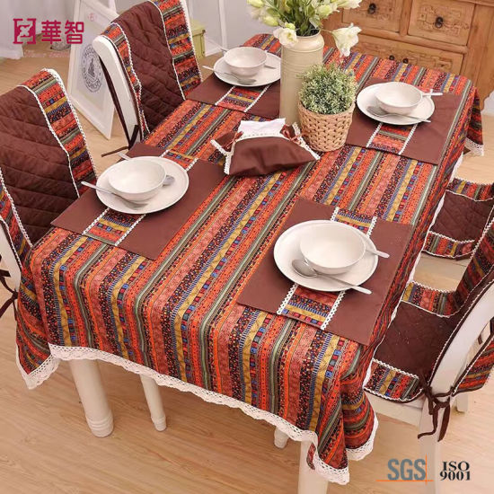 Plaid Fabric Table Cover pictures & photos
