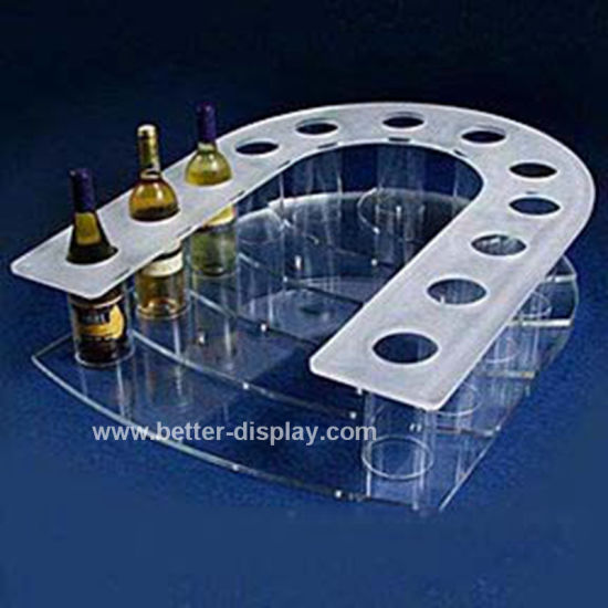 Acrylic Bottle Wine Display Shelf Btr-D2017