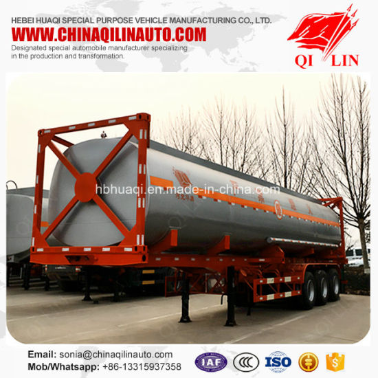 2017 Brand New 40cbm Framework Container Tanker Trailer pictures & photos
