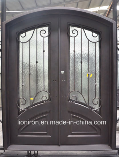 China Promotion Steel Security Double Door Wrought Iron Entry Doors