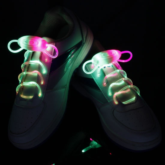 Charm LED Shoelaces with Batteries Inside pictures & photos
