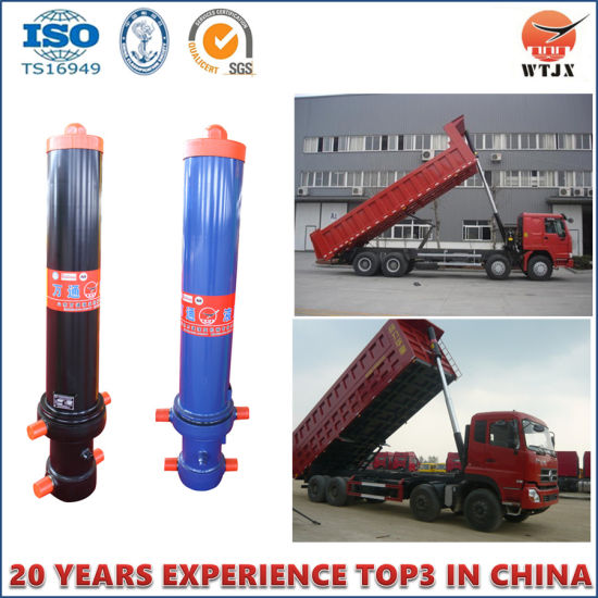 Full Set Telescopic Dump Truck Hydraulic Cylinder with High Quality pictures & photos