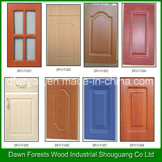 China PVC Membrane MDF Kitchen Cabinet Door Customized Design ...