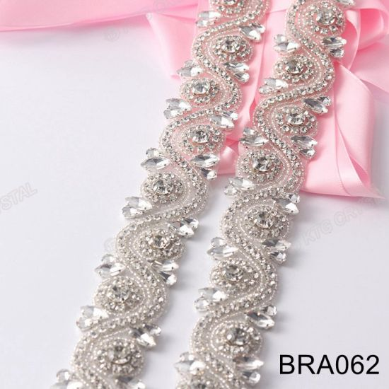 China Premium Quality Fashion Rhinestone Trimming Wedding Dress